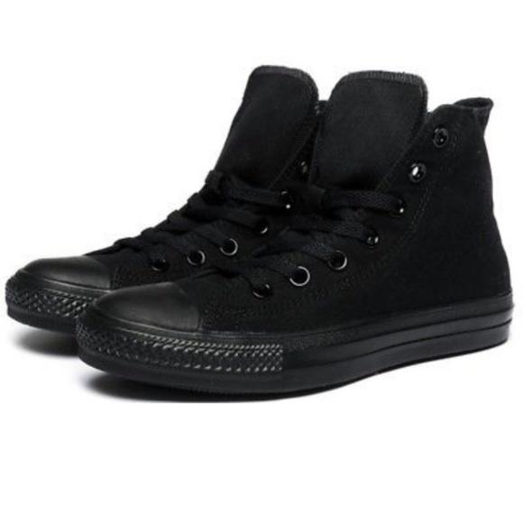 Shop - solid black converse - OFF 72